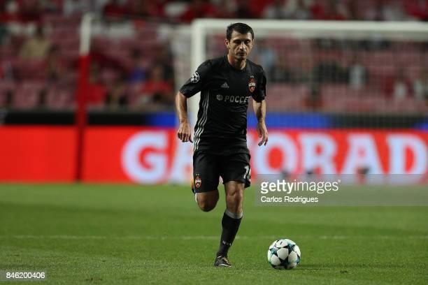 Moskva«s midfielder Alan Dzagoev from Russia during SL Benfica v CSKA Moskva UEFA Champions League round one match at Estadio da Luz on September 12...