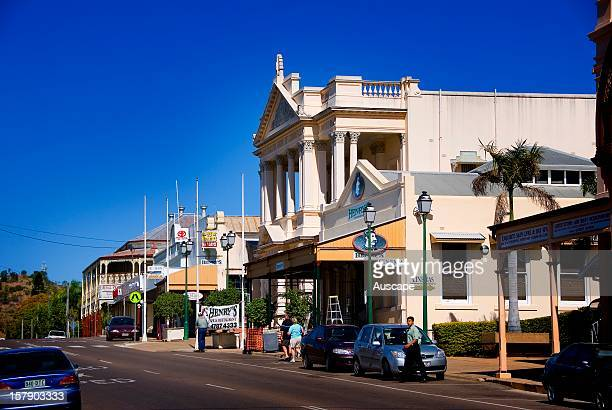 Mosman Street with the World Theatre in the heart of the city the One Square Mile Charters Towers Queensland Australia