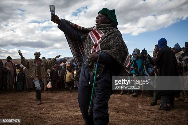 Mosotho men take bets on horses on July 16 2016 in Semonkong Horseracing in the mountain kingdom of Lesotho is not like at Ascot or Longchamp but it...