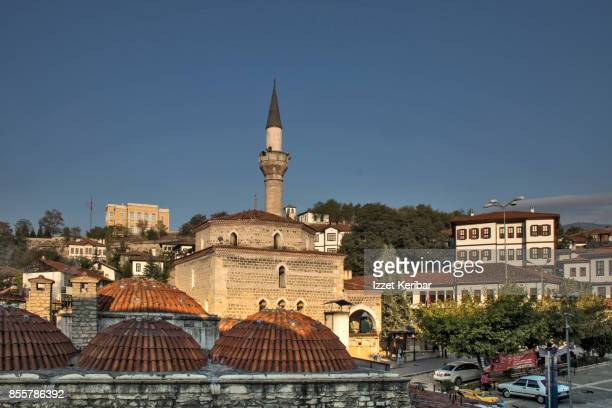 Mosque and Hamam brick coupolos at Safranbolu, Jarabuk, Turkey