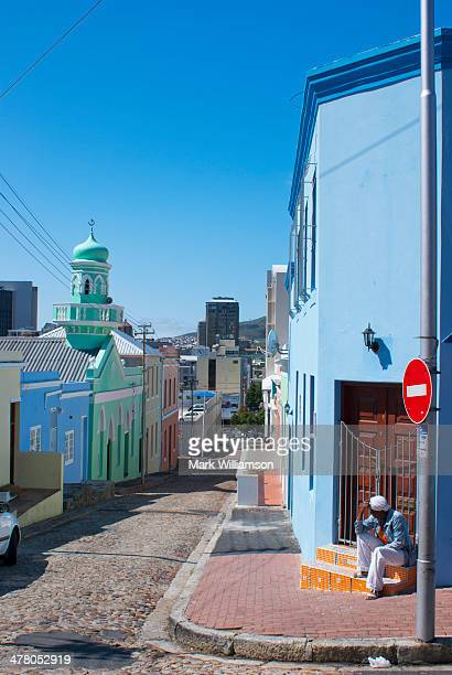 Mosque and houses in Bo Kaap, Cape Town.