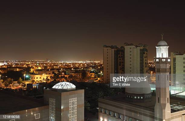Mosque at night in Jeddah, Saudi Arabia