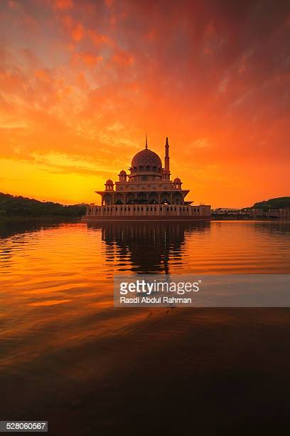 A mosque at sunrise