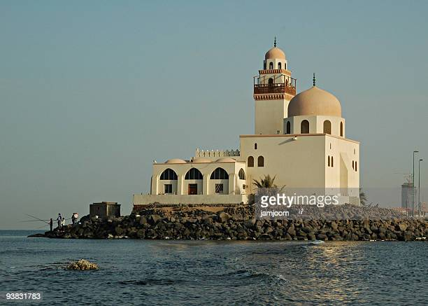 A mosque by the Red Sea in Jeddah Saudi Arabia