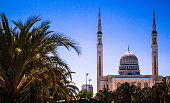 Emir Abdelkader mosque: stone foundation President Houari Boumediene developed and launched by President Chadli Bendjedid is one of the largest mosques in North Africa, is characterized by its high mi