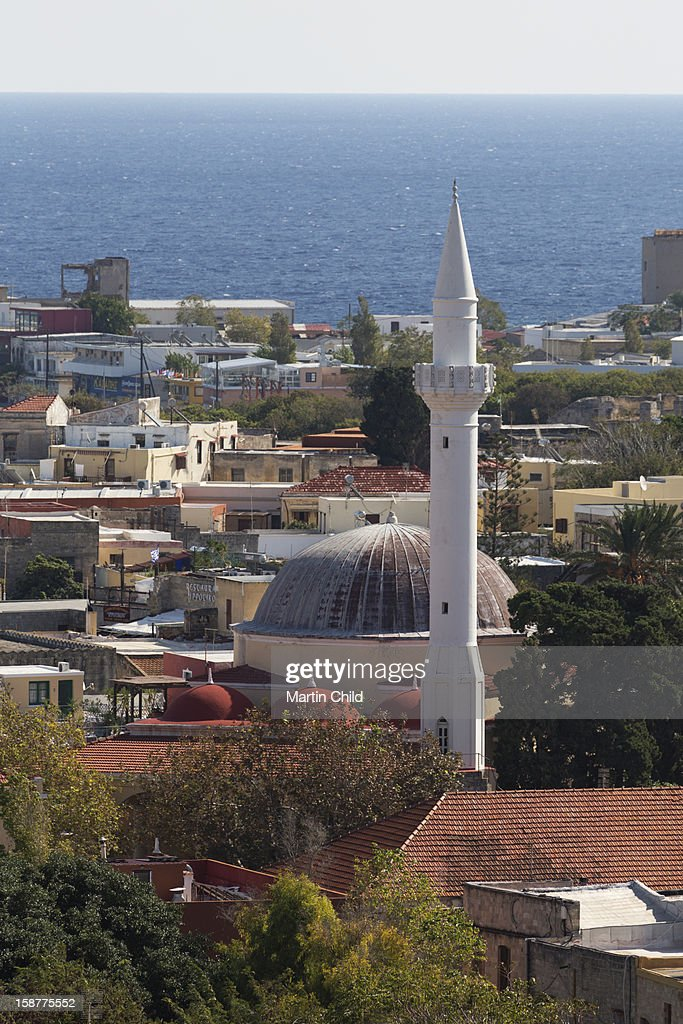 mosque in Rhodes old town : Stock Photo
