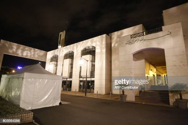 A mosque in the Paris suburb of Creteil is seen June 29 2017 after a man tried to drive a car into a crowd in front of the Islamic religious facility...