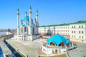 The territory of the Kazan Kremlin. Islamic shrine reconstructed Qolsharif Mosque