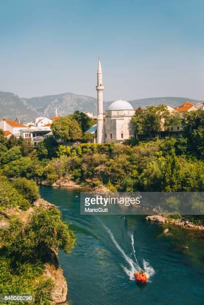 Mosque over the Neretva river, Mostar
