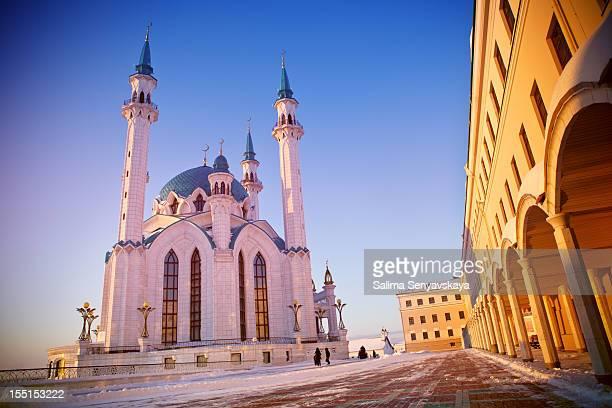 Moschee Qolsharif bei Sonnenuntergang