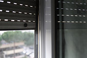 Mosquito net on a PVC window