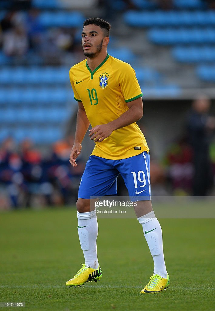 Mosquito of Brazil during the Toulon Tournament Group B match between Brazil and Qatar at the Leo Legrange Stadium on May 30, 2014 in Toulon, France.