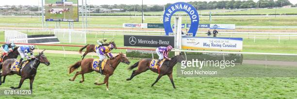 Moss 'n' Dale ridden by Anthony Darmanin wins the Mercedes Benz Handicap at Warrnambool Racecourse on May 04 2017 in Warrnambool Australia