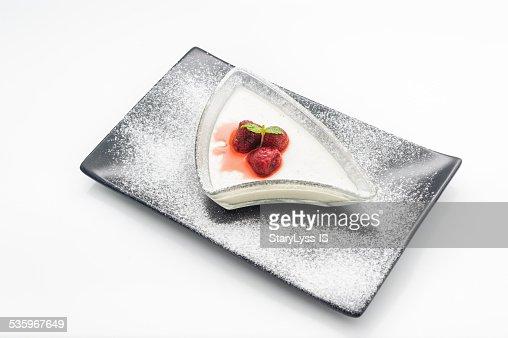Mosse dessert with berries : Stock Photo