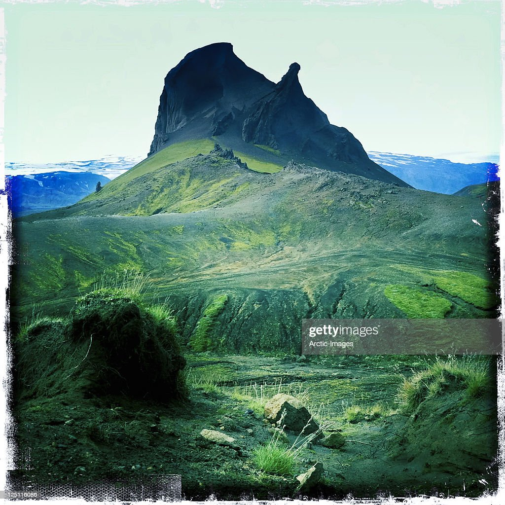 Moss,rocks and mountain : Stock Photo