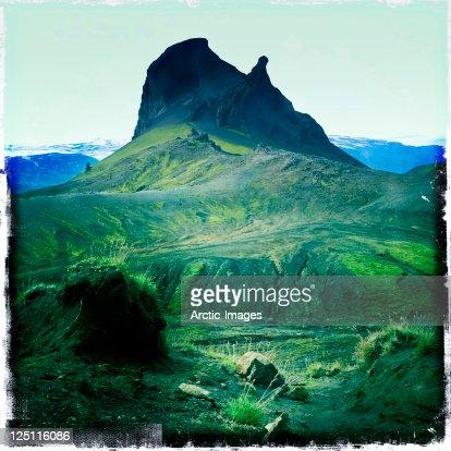 Moss,rocks and mountain : Stock Photo