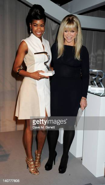 Most Edgy Look winner Tolula Adeyemi and Jo Wood attend as skincare brand Rodial hosts the third annual Beautiful Awards honouring women of beauty...