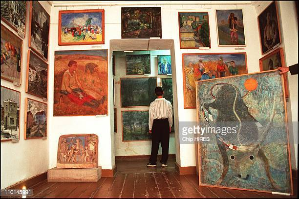 Most extensive collection of gulagera art in a museum in Nukus Uzbekistan in October 2001