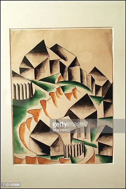 Most extensive collection of gulagera art in a museum in Nukus Uzbekistan in October 2001 Maisons by L Popova 1916