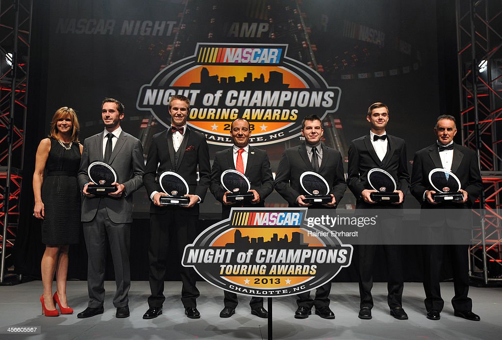 Most Popular Driver honorees pose for a photograph during the NASCAR Night of Champions at Charlotte Convention Center on December 14, 2013 in Charlotte, North Carolina.
