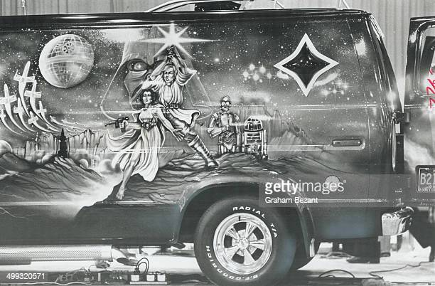 Most popular theme for van murals at this year's show was Star Wars the superpopular movie