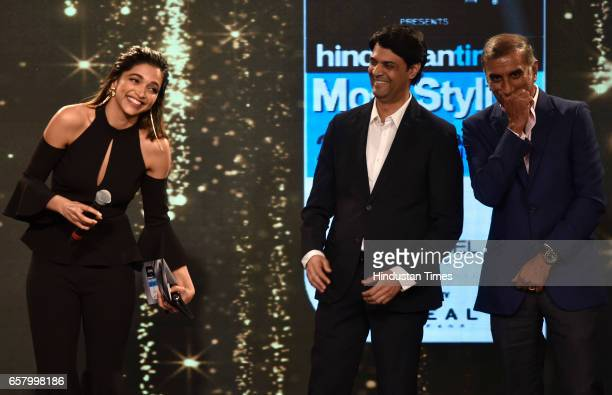 Most Stylish Global Icon Award to Deepika Padukone presented by Aanand L Rai during the HT Mumbai's Most Stylish Awards 2017 at Taj Lands End Bandra...