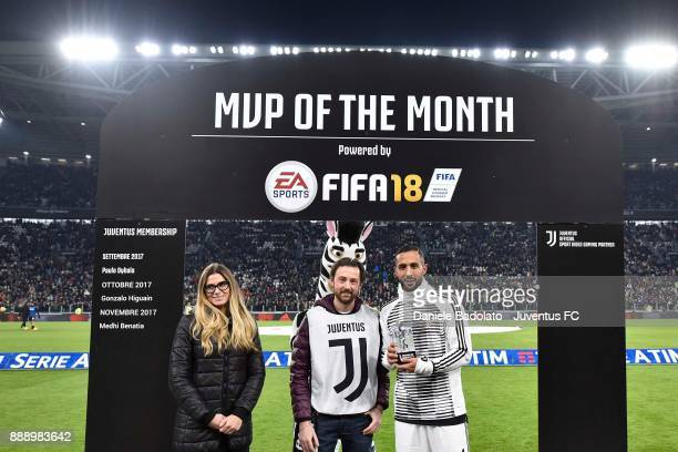 Most valueble player of the month Medhi Benatia of Juventus before the Serie A match between Juventus and FC Internazionale on December 9 2017 in...