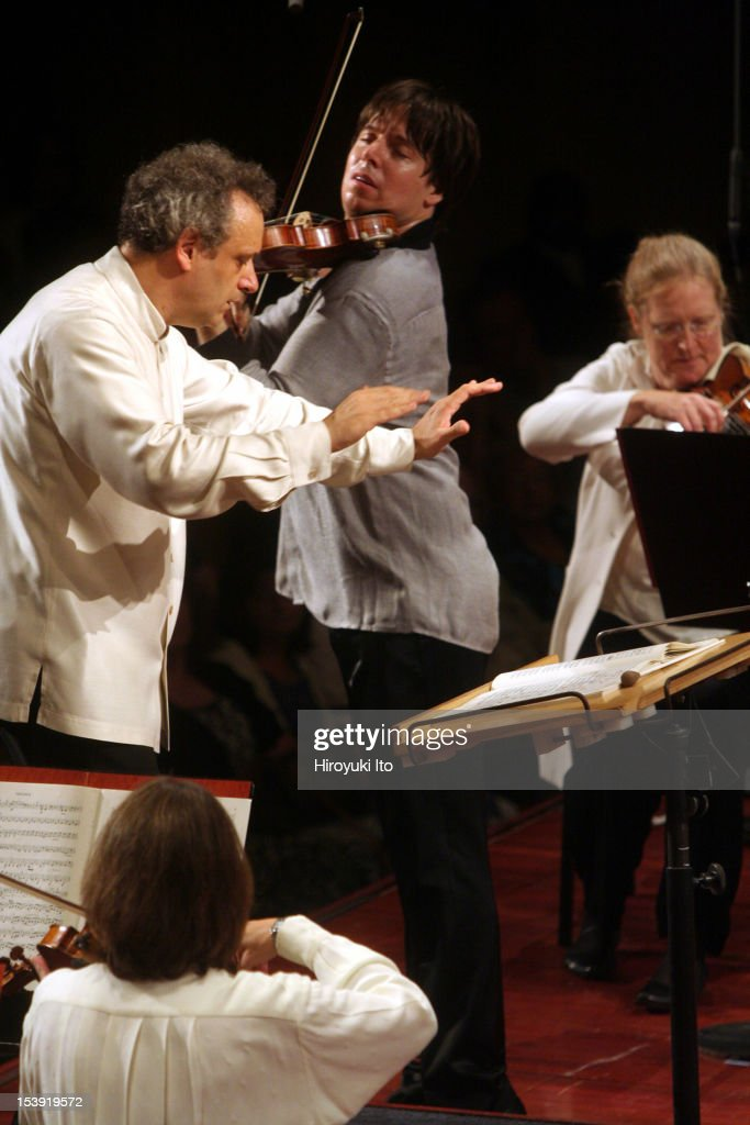 Mostly Mozart Orchestra at Avery Fisher Hall on Tuesday night, August 11, 2009.This image;<a gi-track='captionPersonalityLinkClicked' href=/galleries/search?phrase=Joshua+Bell+-+Musician&family=editorial&specificpeople=556072 ng-click='$event.stopPropagation()'>Joshua Bell</a> performing Mendelssohn's 'Violin Concerto in E minor' with Louis Langree conducting the Mostly Mozart Festival Orchestra.