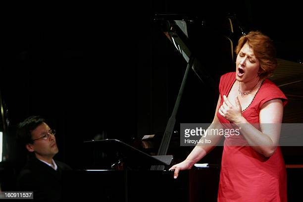 Mostly Mozart's 'A Little Night Music' at the Kaplan Penthouse on Wednesday night July 30 2008This imageThe soprano Christiane Oelze with Ken Noda on...