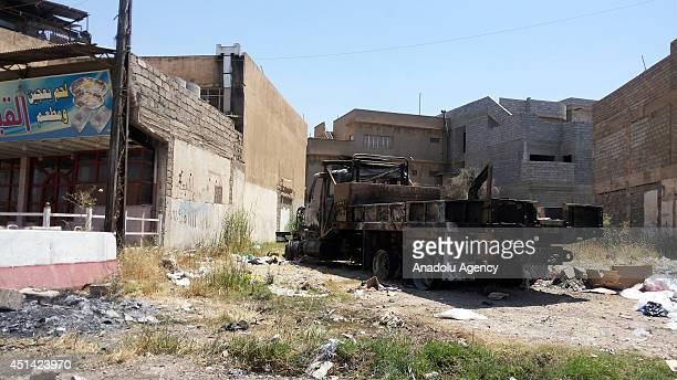Mosul city centre seems desolate and silent after army groups led by Islamic state of Iraq and the Levant seize control on 6 June in Mosul Iraq on 27...