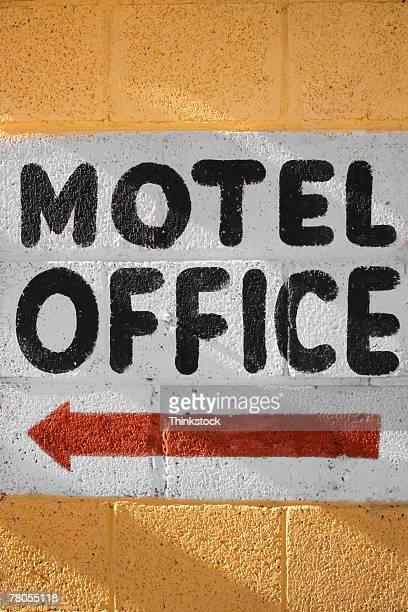 Motel office sign