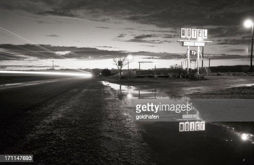 motel, retro - paris,texas