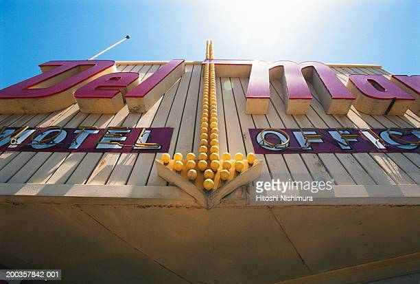Motel sign, low angle view