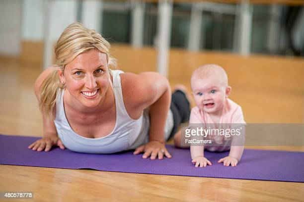 Mother and Baby at the Gym
