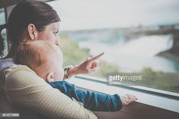 Mother and Baby Boy at Niagara Falls