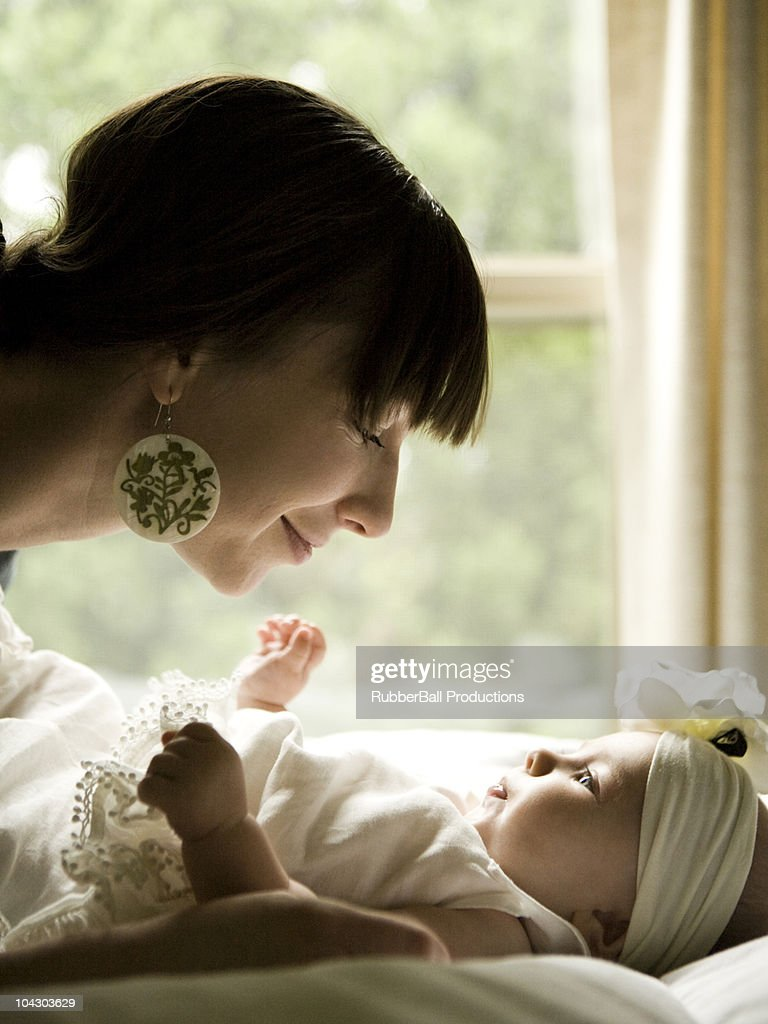 mother and baby girl : Stock Photo