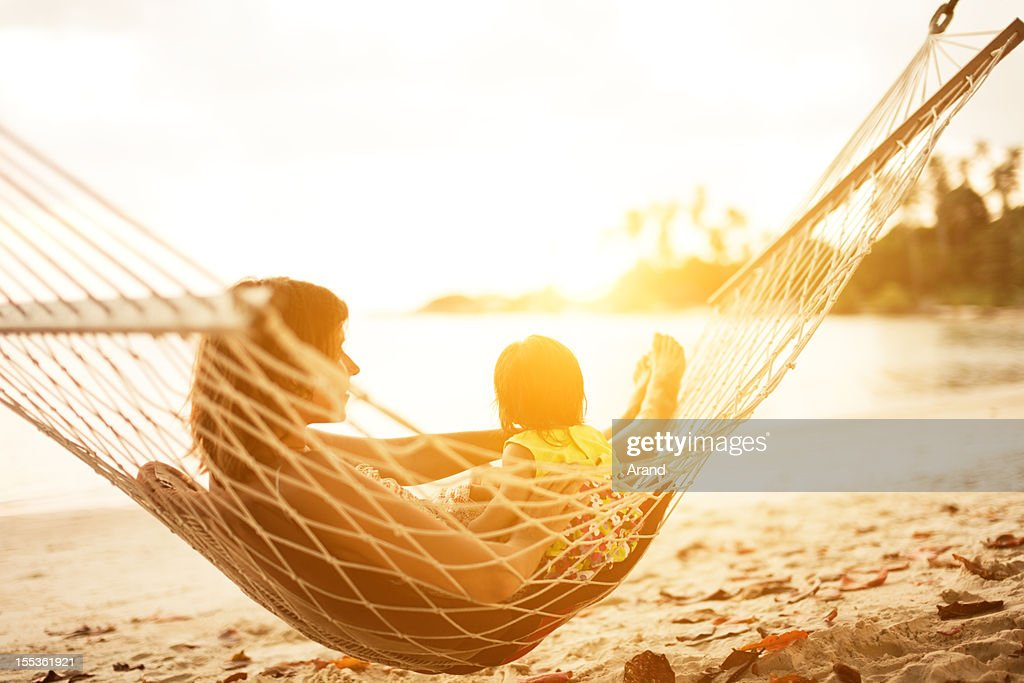 mother and baby in hammock