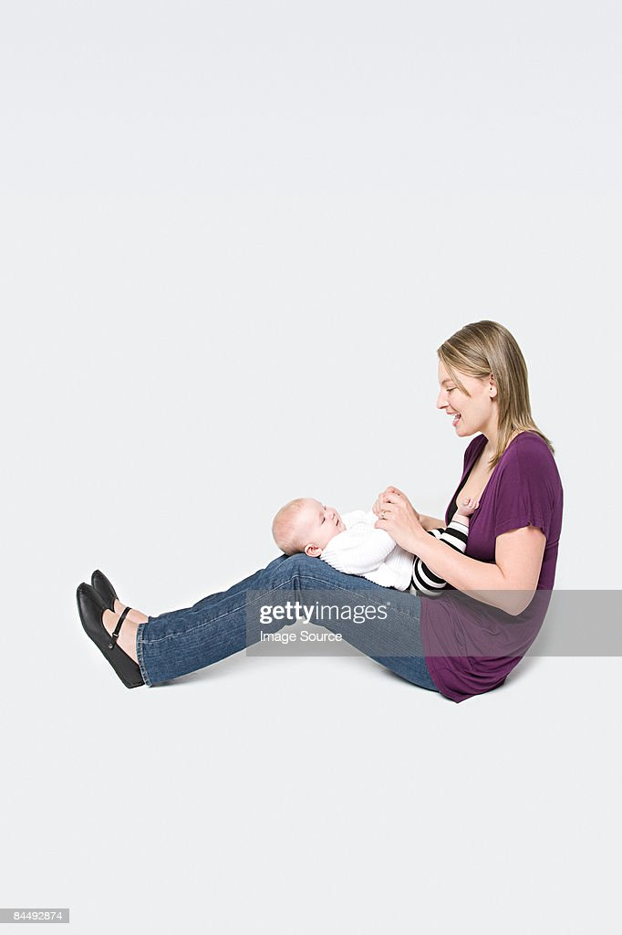 A mother and baby : Stock Photo