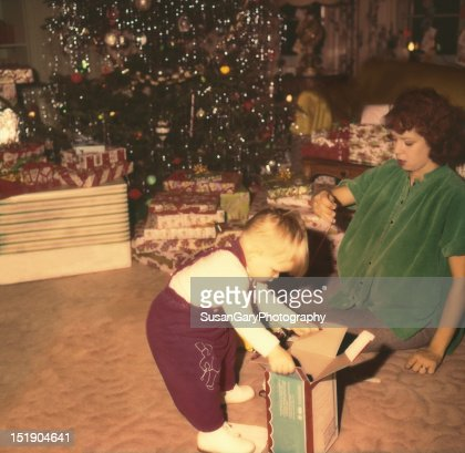 Mother and Baby Son playing during christmas : Stock Photo
