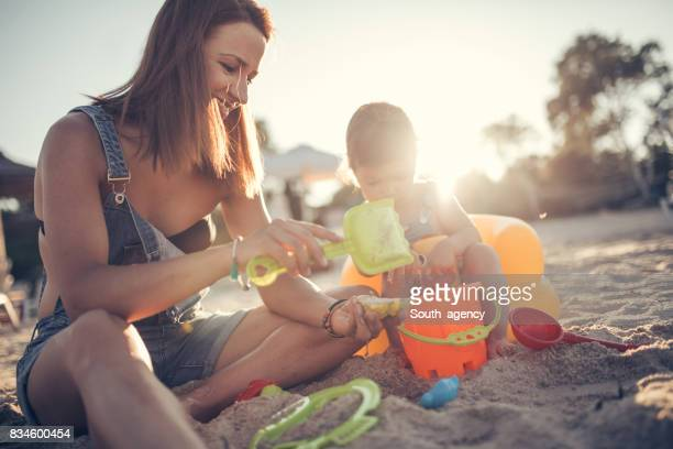 Mother and baby spending time together