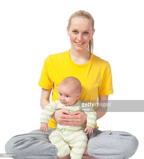 Mother and Baby yoga Stockimage