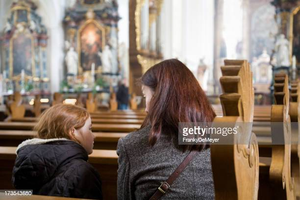 Mother and child at the church