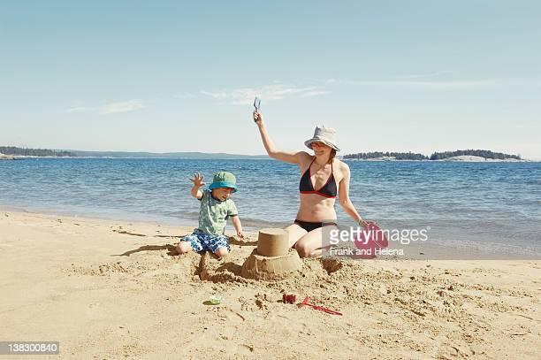 Mutter und Kind-Gebäude sandcastle