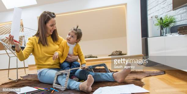 Mother and child having fun