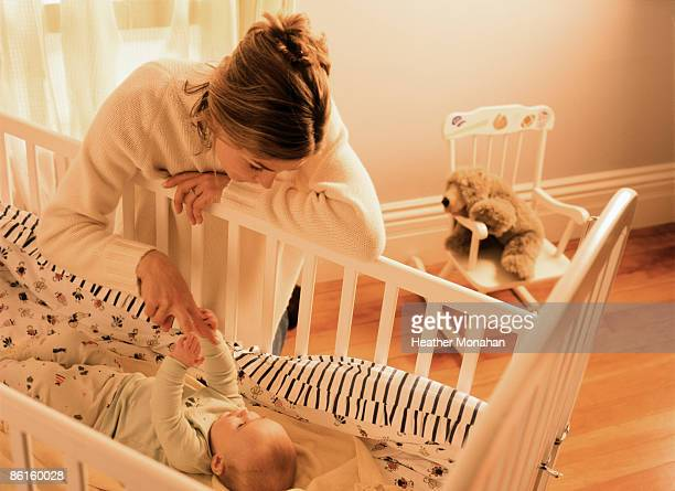 Mother and child in nursery