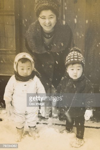 Mother and children : Stock Photo