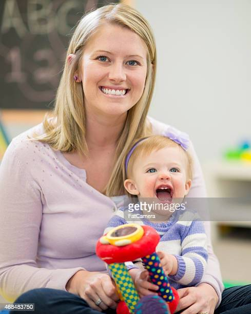 Mutter und Tochter in Kindertagesstätten
