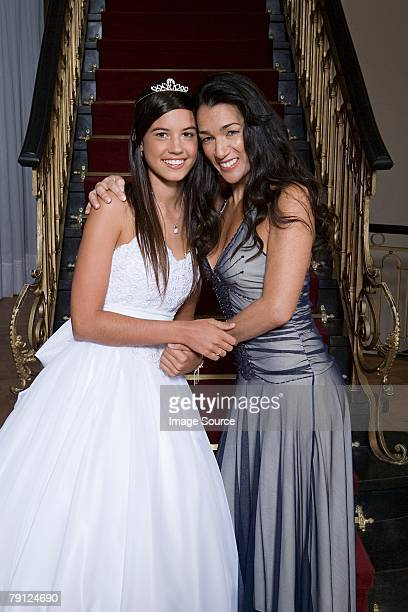 Mother and daughter at quinceanera