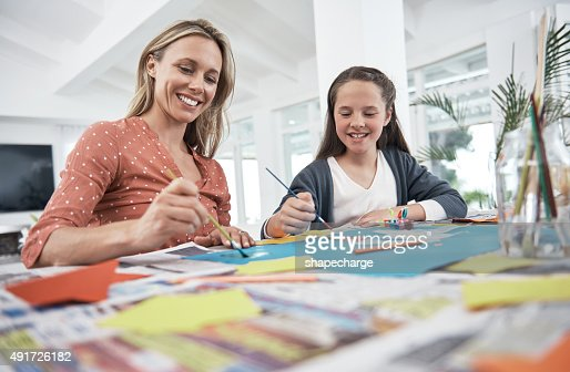 Mother and daughter creativity