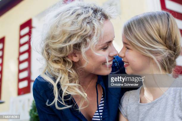 Mother and daughter enjoying being together outdoors